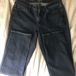 Ann Taylor Loft Curvy Straight Jeans